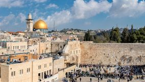 Western Wall in Jerusalem Old City. Royalty Free Stock Photo
