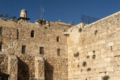 Western wall of Jerusalem Stock Photography