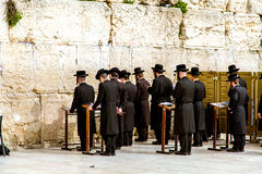 Western Wall in Jerusalem, praying Jews Royalty Free Stock Photography