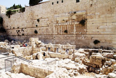 Western wall Jerusalem Robinson arc. The western wall Jerusalem Israel Robinson arc archaeology Stock Photography