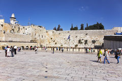 The western wall of the Jerusalem temple Royalty Free Stock Photo
