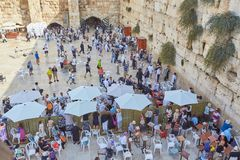 The Western Wall of the Jerusalem Temple royalty free stock images