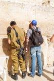 Western wall in Jerusalem Stock Image
