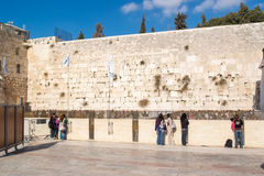 Western wall in Jerusalem Stock Image