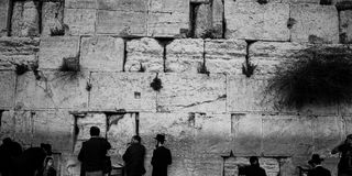 Western Wall, Jerusalem, 03.04.2015, Western Wall Jerusalem with. Western Wall Jerusalem is also called the wailing wall or wall of weeping. It is one of the Royalty Free Stock Photography