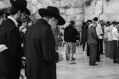 Western Wall, Jerusalem, 03.04.2015, Western Wall Jerusalem with. Western Wall Jerusalem is also called the wailing wall or wall of weeping. It is one of the Royalty Free Stock Images