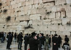 Western Wall, Jerusalem, 03.04.2015, Western Wall Jerusalem with. Western Wall Jerusalem is also called the wailing wall or wall of weeping. It is one of the Royalty Free Stock Photo