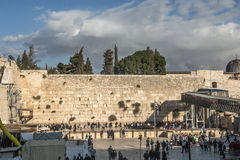 Western wall of Jerusalem Royalty Free Stock Photos