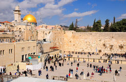 Western wall (kotel). Square in front of the Western wall (kotel) in Old Jerusalem city stock photos