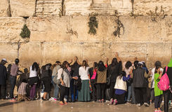 The Western Wall, Kotel or The Wailing Wall. Stock Photos