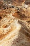 Western wall of Masada Royalty Free Stock Images