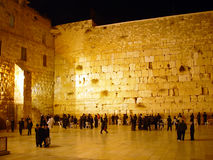 The western wall at night.  Stock Images