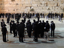 Western Wall by night, Jerusalem, Israel Royalty Free Stock Photos