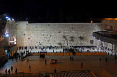 Western Wall by night, Jerusalem, Israel Royalty Free Stock Images
