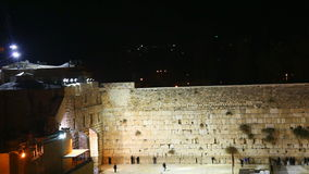 The Western Wall in the night in Jerusalem stock footage
