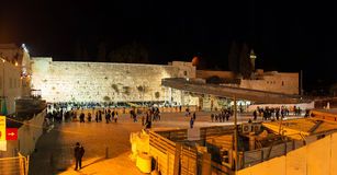 Western Wall at night Royalty Free Stock Photo