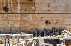 Western Wall in the Old City of Jerusalem Royalty Free Stock Photography
