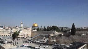 The western Wall stock video footage