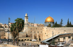 Western wall in the old Jerusalem. Royalty Free Stock Photography