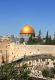 Western wall in the old Jerusalem. Royalty Free Stock Photos