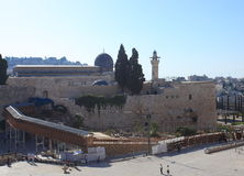 Western Wall Plaza & Al-Aqsa Mosque Royalty Free Stock Images