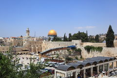 Western Wall Plaza and Dome of the Rock Stock Photos