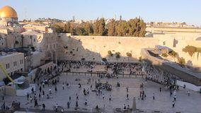 Western Wall Plaza stock video footage