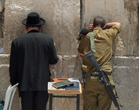 The Western Wall.Pray. Stock Photos