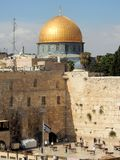 Old City of Jerusalem, Western Wall, religious site Jewish people, Dome of the Rock, Islamic shrine, Israel royalty free stock photo