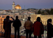 Western Wall during Shabbat pray Royalty Free Stock Photography