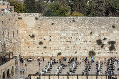 The Western Wall of the Temple Stock Photo