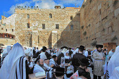 The Western Wall of the Temple in Jerusalem Stock Images