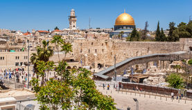 Western Wall of the Temple and the Mosque of Omar. Stock Images