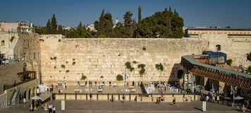 The Western Wall on the Temple Mount, Old City of Jerusalem Stock Photography