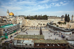 The Western Wall of the Temple between prayers Royalty Free Stock Image