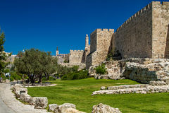 The western wall and Tower of David, Jerusalem Stock Photography