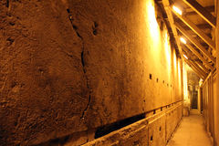 Free Western Wall Tunnel. 485 Metres. The Biggest Stone - 510 Long Tons Royalty Free Stock Photography - 36412227