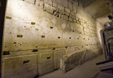 Western wall tunnel Royalty Free Stock Photos