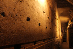Western Wall Tunnel. 485 metres. The biggest stone - 510 long tons Royalty Free Stock Photography