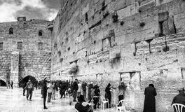 An inspiring shot of the Western Wall in Jerusalem Royalty Free Stock Images