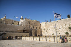 The western wall wailing wall complex in jerusalem israel Royalty Free Stock Image