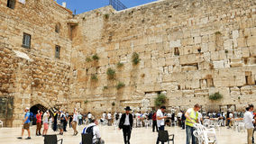Western wall or Wailing wall or Kotel in Jerusalem. Jerusalem, Israel - May 25, 2017: Western Wall also known as Wailing Wall or Kotel in Jerusalem. The Western royalty free stock image