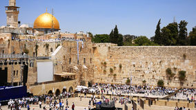 Western Wall or Wailing Wall or Kotel in Jerusalem Royalty Free Stock Photos