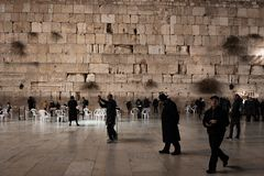 JERUSALEM, ISRAEL - DECEMBER 04, 2018: The Western Wall, Wailing Wall, or Kotel, known in Islam as the Buraq Wall. The Western Wall, Wailing Wall, or Kotel stock photos