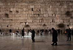 JERUSALEM, ISRAEL - DECEMBER 04, 2018: The Western Wall, Wailing Wall, or Kotel, known in Islam as the Buraq Wall,. The Western Wall, Wailing Wall, or Kotel royalty free stock photo
