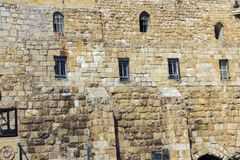Western Wall, Wailing Wall or Kotel the Place of Weeping in the Old City of Jerusalem. Western Wall, Wailing Wall or Kotel the Place of Weeping is an ancient stock images