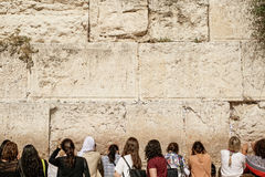 Western wall. Women part of the western wall in jerusalem Royalty Free Stock Photography