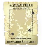 Western wanted poster Stock Photography