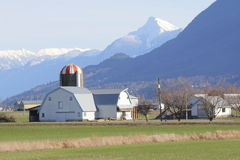 Western Washington Farm. A picturesque setting for a sprawling farm in western Washington stock photo