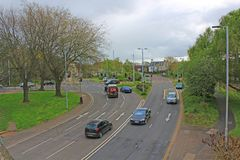 Western Way, Exeter, looking towards the River Exe. This road is also known as The Inner Bypass Stock Photos